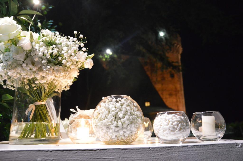 Dettaglio del corner confetti allestito nel Giardino Segreto