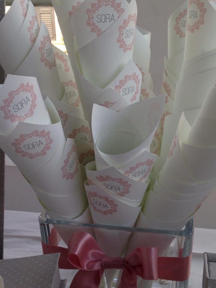 coni per degustazione confetti