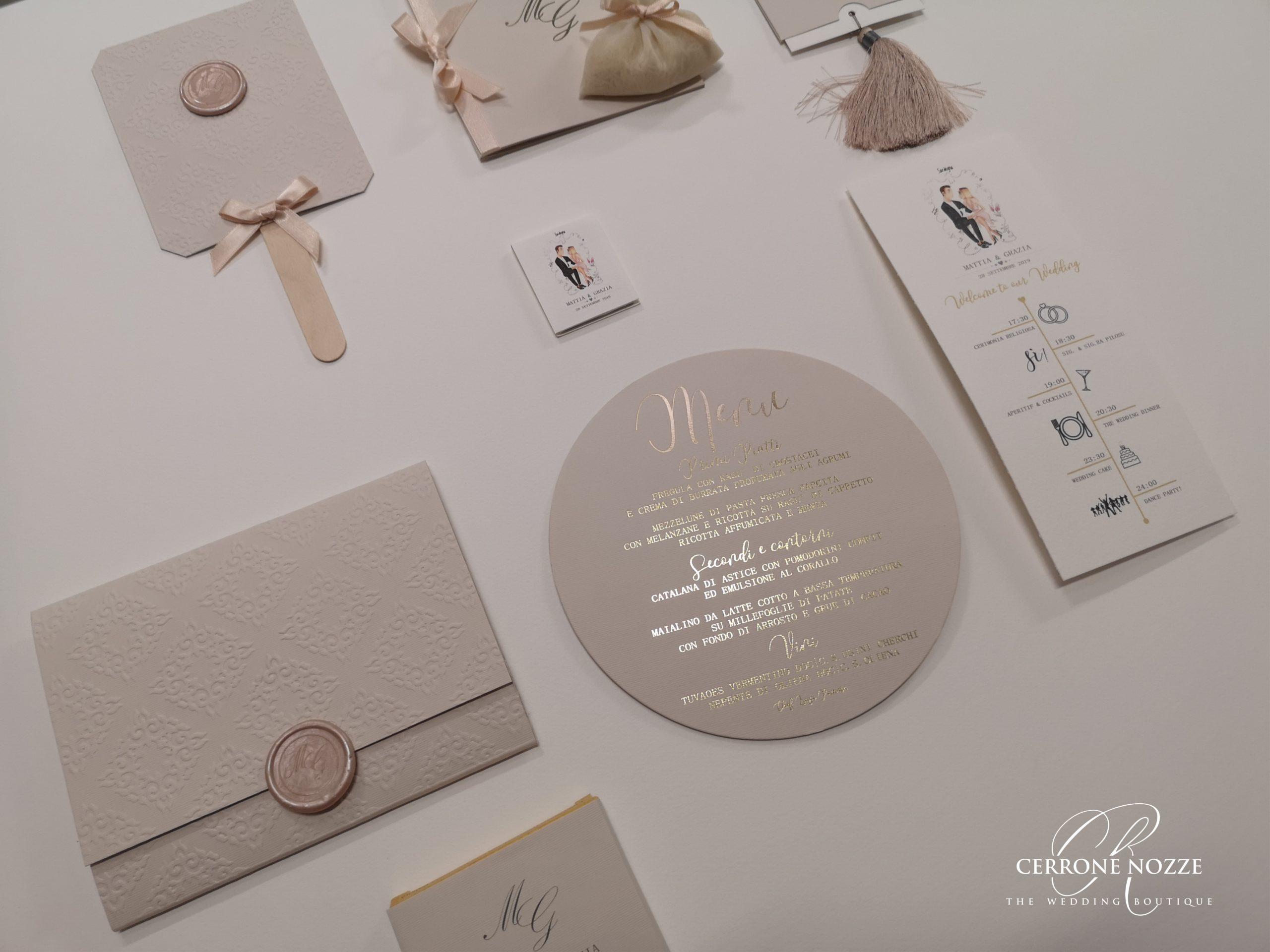 wedding stationery stampa a caldo hotfoil letterpress   Cerrone Nozze wedding boutique